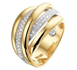 Ring diamant 0.51ct H SI