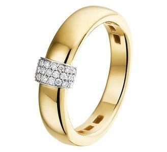 Ring diamant 0.09ct H SI
