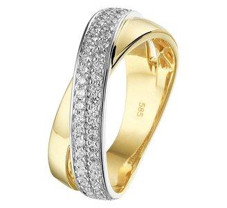 Ring diamant 0.44ct H SI
