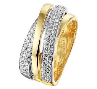 Ring diamant 0.57ct H SI