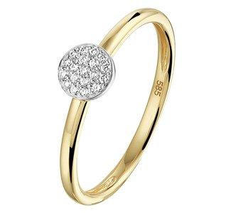 Ring diamant 0.07ct H SI