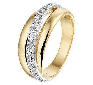 Ring diamant 0.47ct H SI