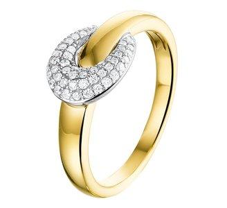 Ring diamant 0.22ct H SI