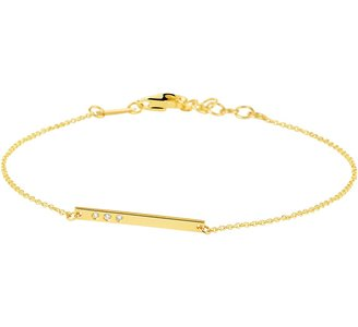 Armband balkje diamant0.015ct 0,9mm 16,5-17,5-18,5