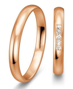 Klassieke Ringen rosegouden glanzend