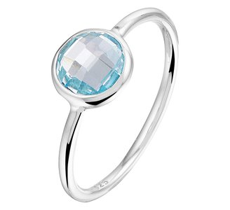 Ring blauw topaas